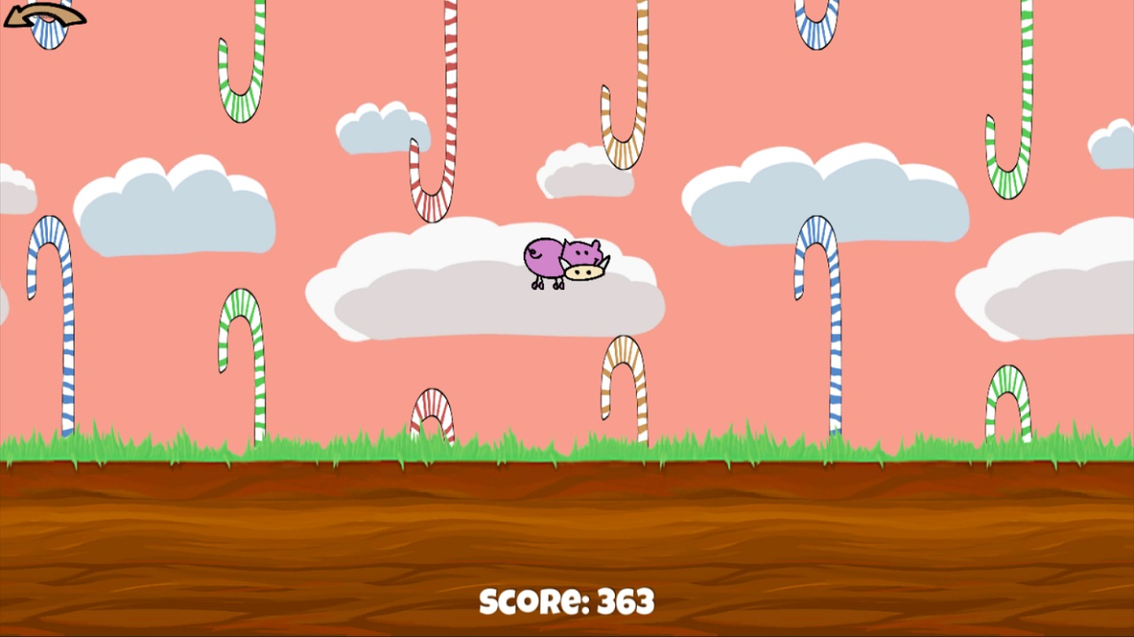 Flying Candy Pig Ramplay